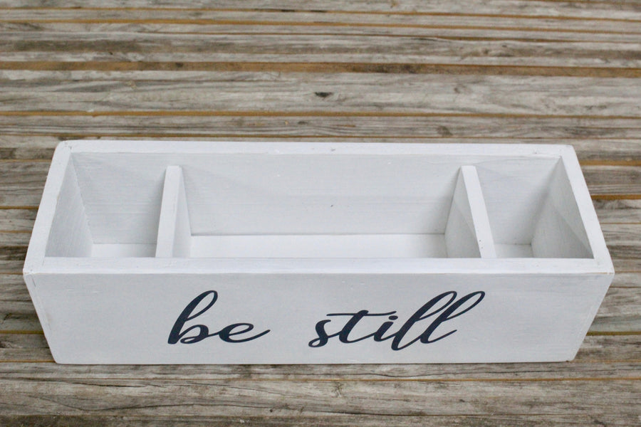 'Lil RAD Box — White BE STILL