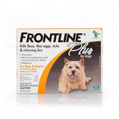 Frontline Flea Control Plus for Dogs And Puppies 11-22 lbs 6 Pack - Johnny's Pet Supply