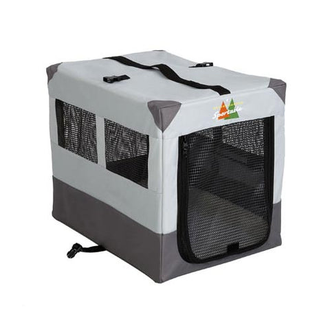 "Midwest Canine Camper Sportable Crate Gray 24"" x 17.5"" x 20.25"" - Johnny's Pet Supply"