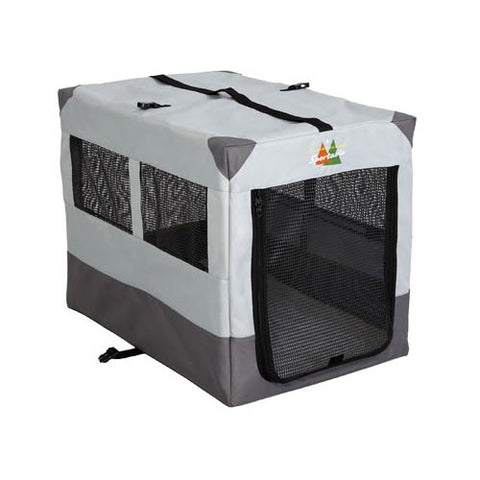 "Midwest Canine Camper Sportable Crate Gray 31"" x 21.50"" x 24"" - Johnny's Pet Supply"