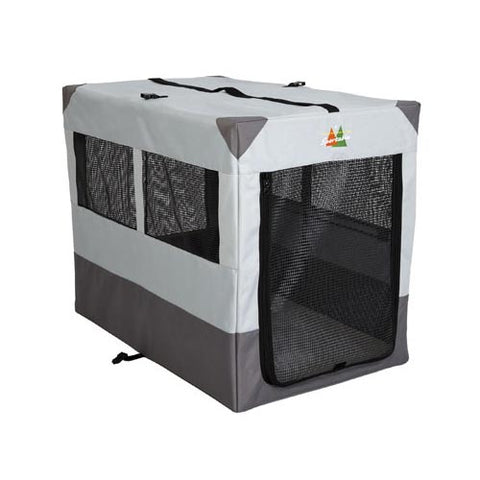 "Midwest Canine Camper Sportable Crate Gray 42"" x 26"" x 32"" - Johnny's Pet Supply"
