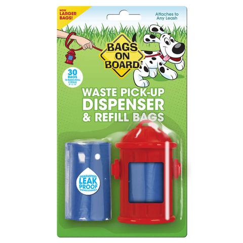 Fire Hydrant Dispenser and Pick-up Bags 30 bags - Johnny's Pet Supply