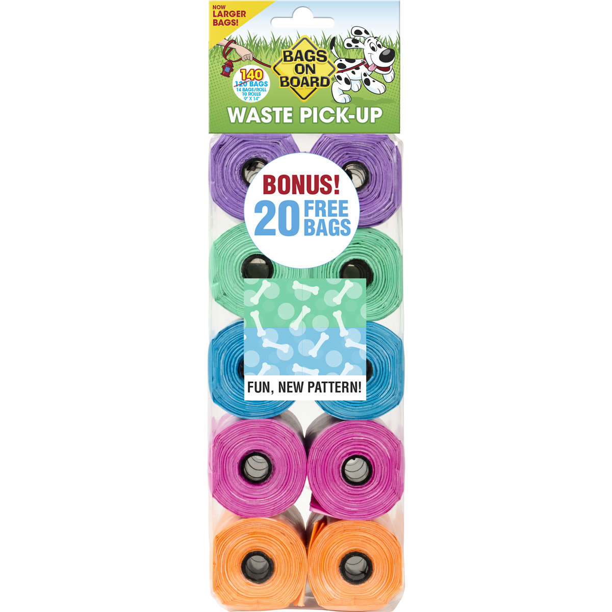 Fashion Print Waste Pick-Up Bags 140 count - Johnny's Pet Supply