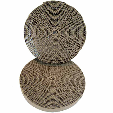 "Bergan Cat Turboscratcher Replacement Pad 2 pack Brown 10.25"" x 10.25"" x 3.75"" - Johnny's Pet Supply"
