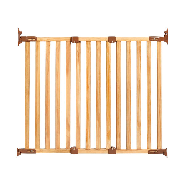 "Kidco Angle Mount Wood Safeway Wall Mounted Pet Gate Oak 28.5"" - 43"" x 31"""