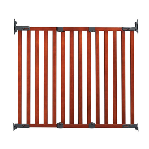 "Kidco Angle Mount Wood Safeway Wall Mounted Pet Gate Cherry 28.5"" - 43"" x 31"" - Johnny's Pet Supply"