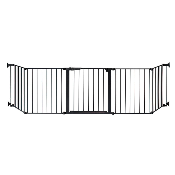 "Kidco Auto Close HearthGate Pet Gate Black 126"" x 31"""