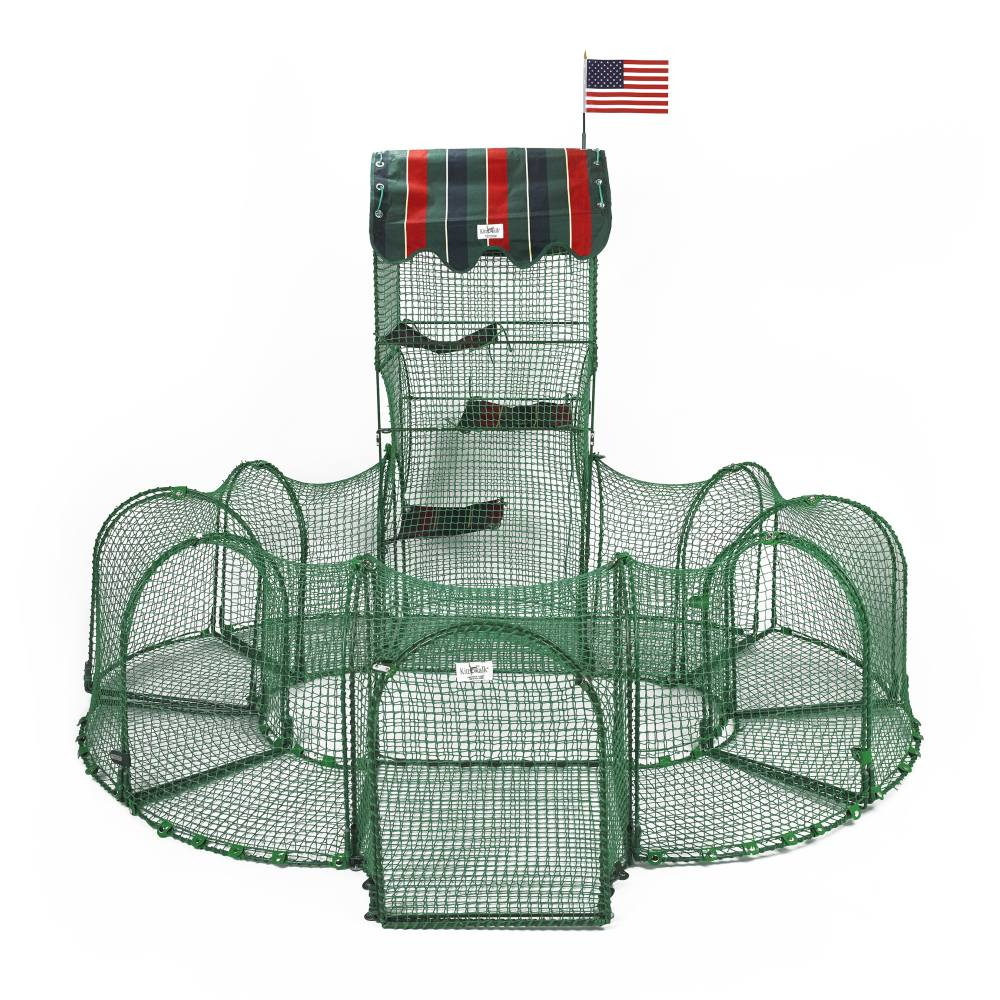 "Kittywalk Grand Prix Outdoor Cat Enclosure Green 86"" x 70"" x 60"" - Johnny's Pet Supply"