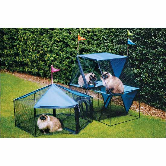 "Kittywalk Carnival Outdoor Cat Enclosure Green 72"" x 48"" x 40"""