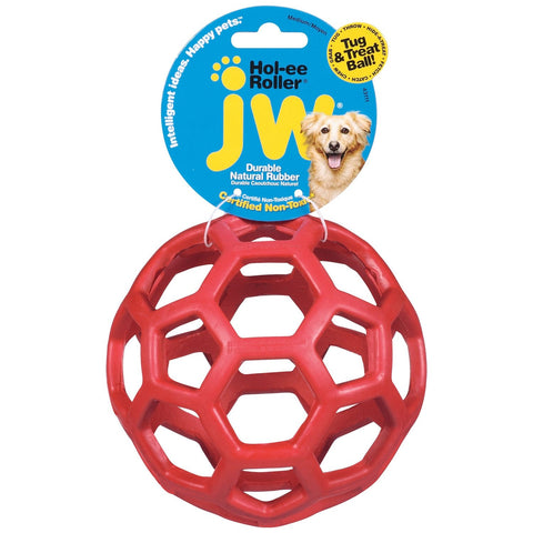 "Petmate JW Hol-Ee Roller Dog Toy Medium Assorted 4.5"" x 4.5"" x 4.5"" - Johnny's Pet Supply"