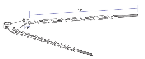 Andersen WD Hitch chain length measurement