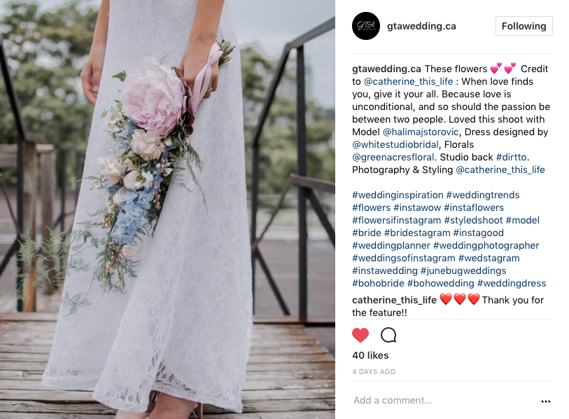 Features on GTAWEDDING.CA July 2017