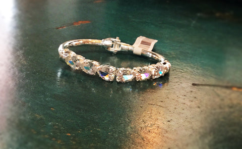 Diamond Clasp Silver Bracelet - Blessed and Beautiful Boutique