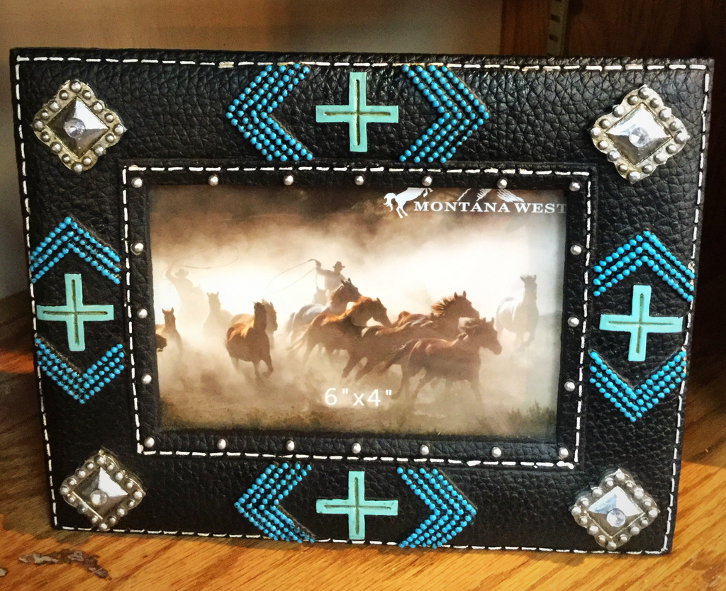 Black and turquoise frame - Blessed and Beautiful Boutique