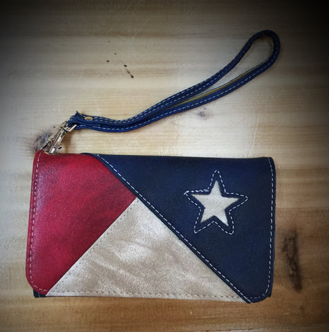 Red White Blue Phone Wallet - Blessed and Beautiful Boutique