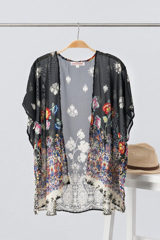 Boho Print Kimono - Blessed and Beautiful Boutique