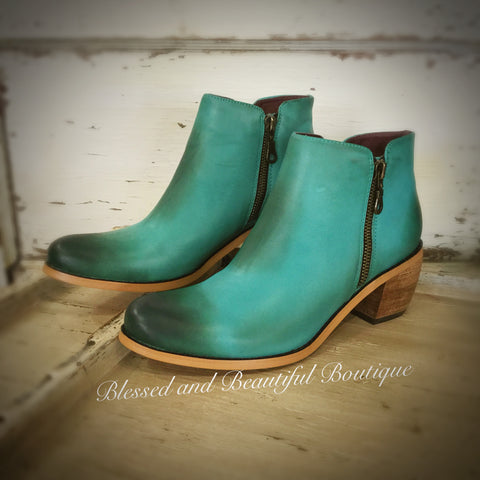 Turquoise Booties - Blessed and Beautiful Boutique