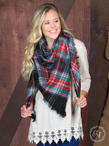 Plaid Blanket Scarf - Blessed and Beautiful Boutique