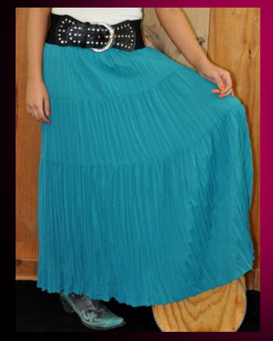 CR Long Skirt - Turquoise - Blessed and Beautiful Boutique