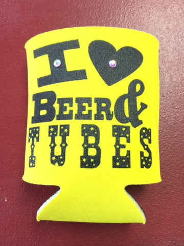 Koozie - I Love Beer and Tubes - Blessed and Beautiful Boutique