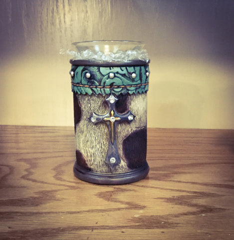 Cross Candle Holder - Blessed and Beautiful Boutique