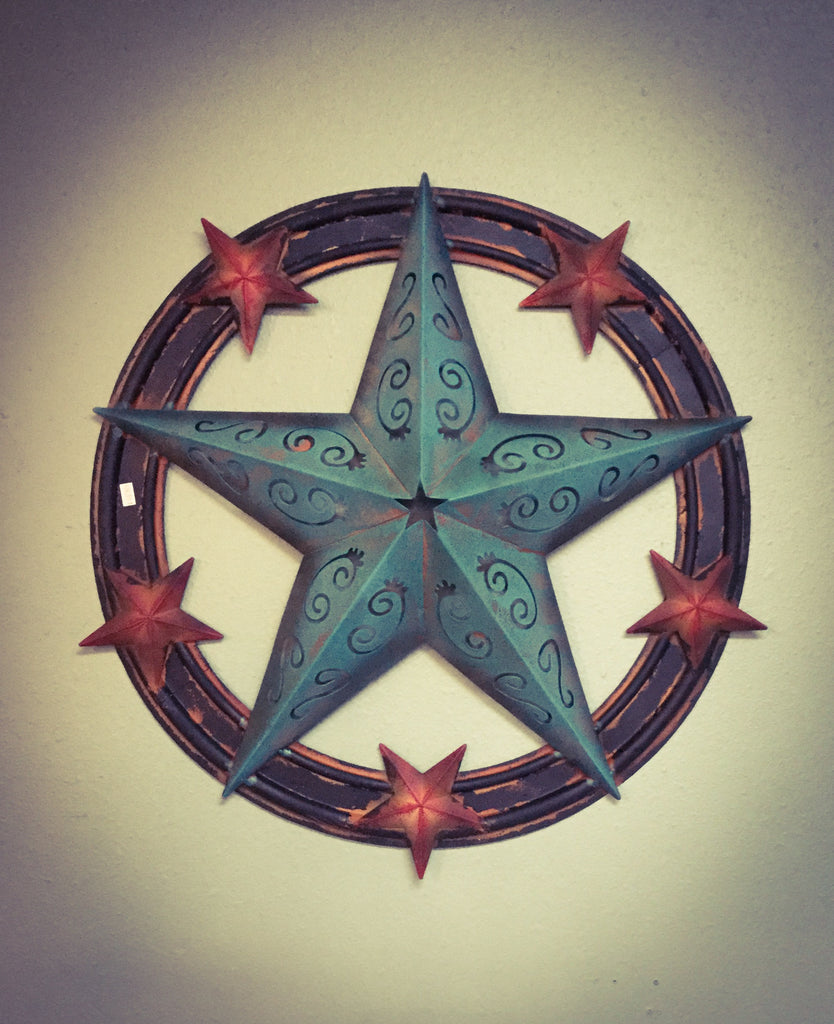 Metal Star Red and Turquoise - Blessed and Beautiful Boutique