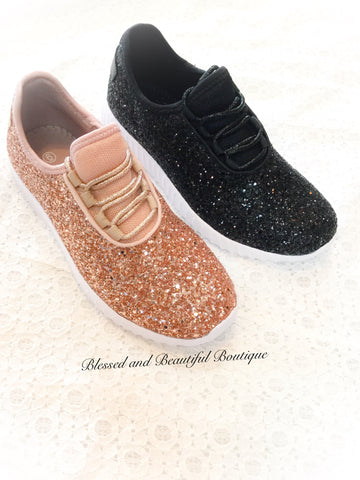 Glitter Sneakers - Blessed and Beautiful Boutique