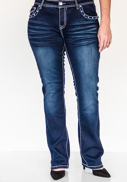 P4:13 Lexi Bootcut Jeans Size - Blessed and Beautiful Boutique