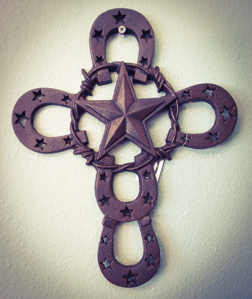 Horseshoe star cross - Blessed and Beautiful Boutique