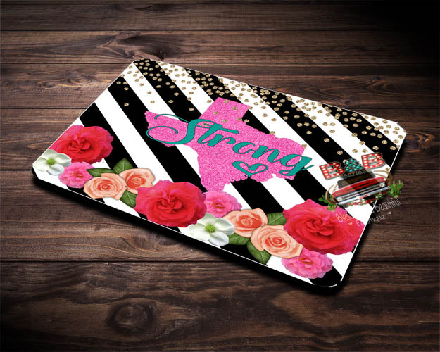 Texas Strong Rectangle Mousepad - Blessed and Beautiful Boutique