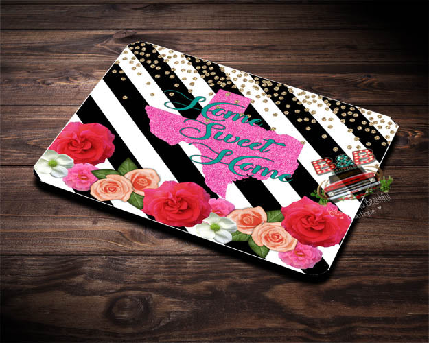 Home Sweet Home Rectangle Mousepad - Blessed and Beautiful Boutique