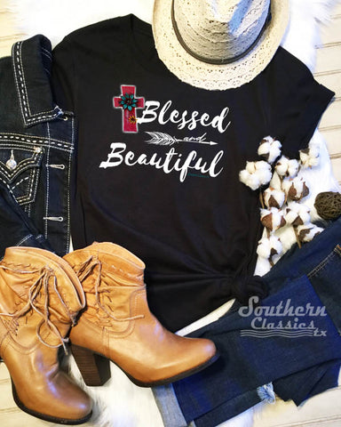 Blessed and Beautiful Tee Shirt in Adult and Youth Sizes