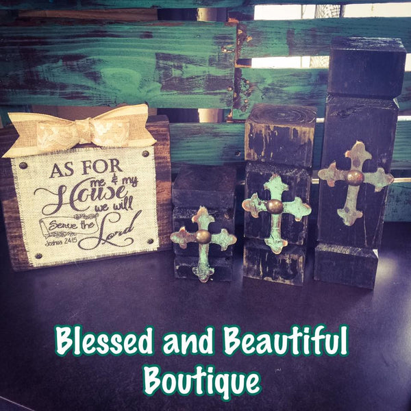Rustic Candle Holder 3 Piece Set - Blessed and Beautiful Boutique