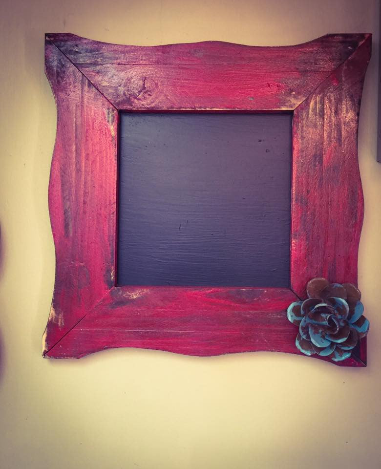 Chalk Board Red Rustic Decor - Blessed and Beautiful Boutique