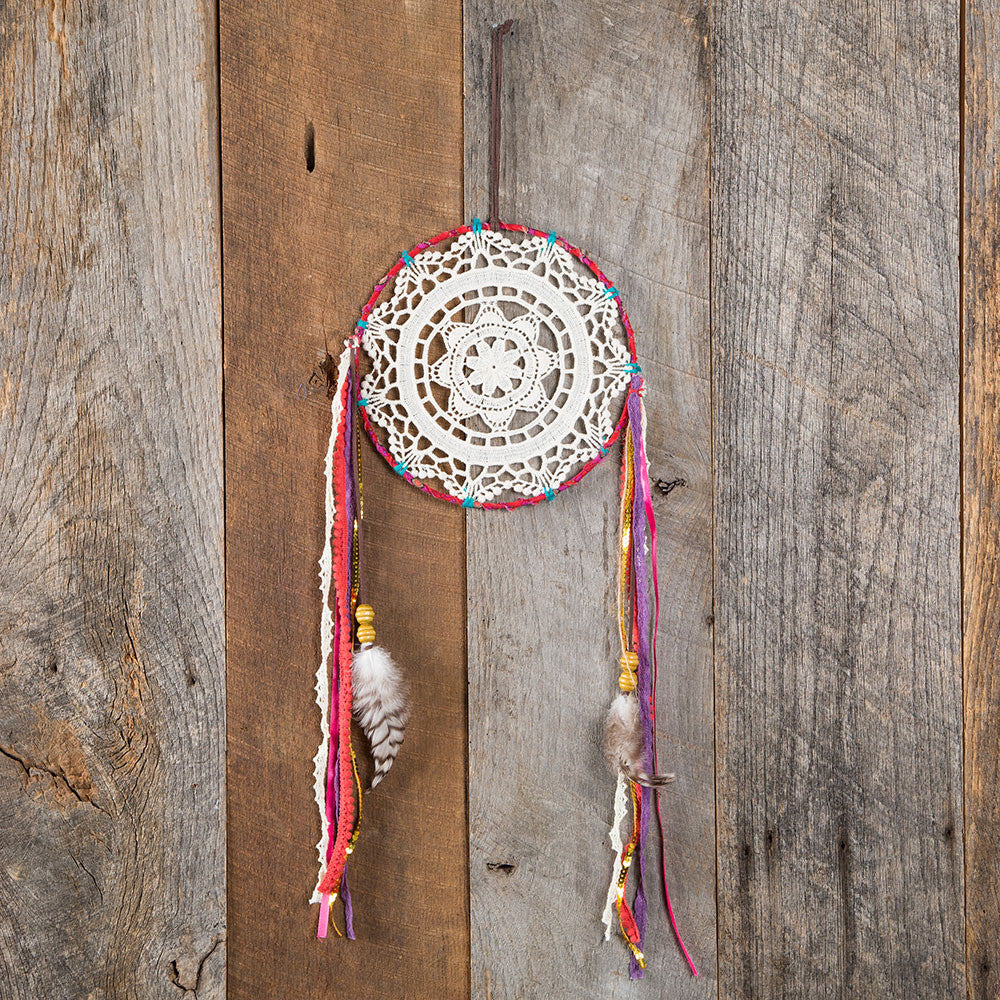 Dream Catcher with crochet center - Blessed and Beautiful Boutique