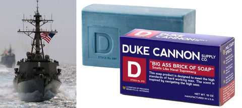 "Duke Cannon ""Big Ass Brick of Soap - Naval Supremacy - Blessed and Beautiful Boutique"