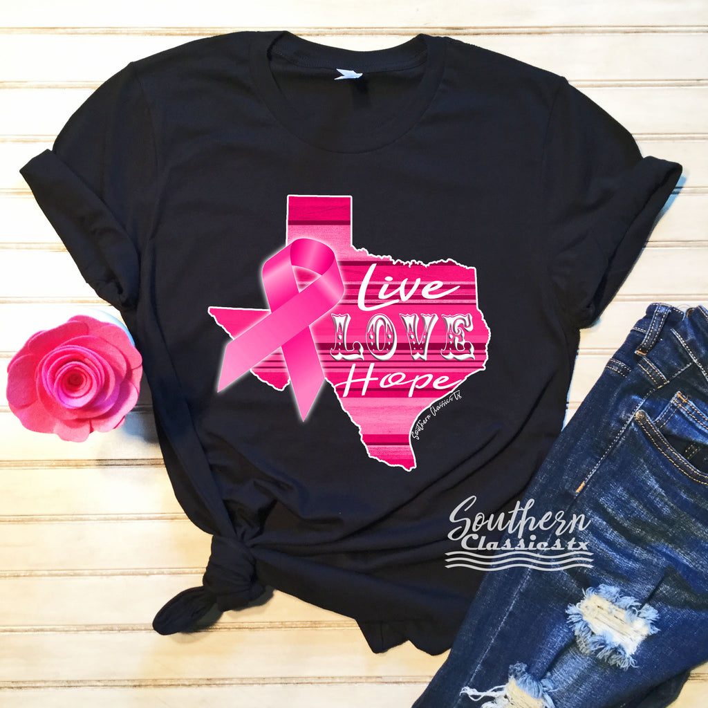 For the Cure Live Love Hope - Blessed and Beautiful Boutique