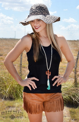 ANY FRINGE OF MINE RUST? SHORTS - Blessed and Beautiful Boutique