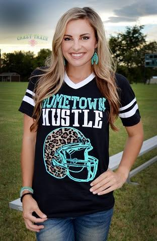 Hometown Hustle Football Shirt - Blessed and Beautiful Boutique
