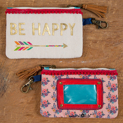 """Be Happy"" ID Pouch - Blessed and Beautiful Boutique"