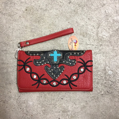Nocona Blazin Roxx Turquoise Cross Wallet - Blessed and Beautiful Boutique