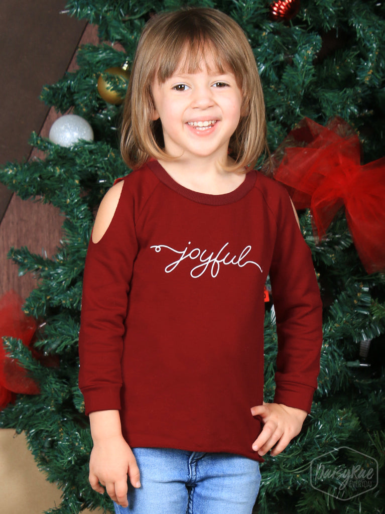 Youth Joyful  Sweatshirt - Blessed and Beautiful Boutique