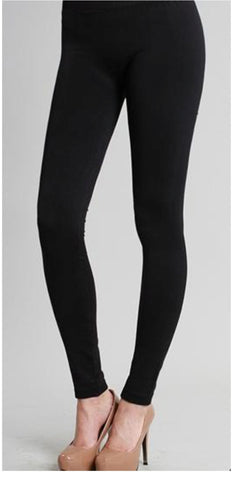 Ankle Length Leggings - Black - Blessed and Beautiful Boutique
