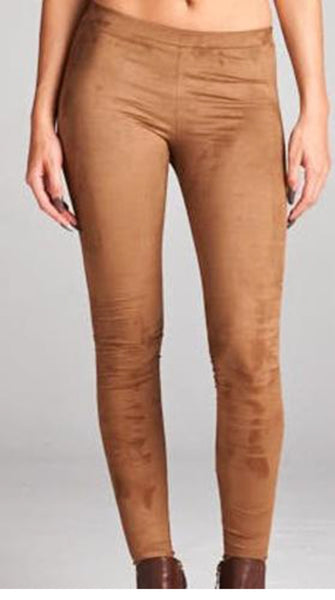 Suede Camel Leggings - Blessed and Beautiful Boutique