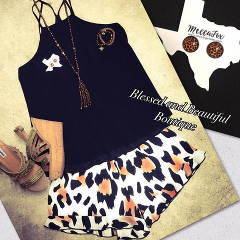 Animal Print Shorts - Blessed and Beautiful Boutique