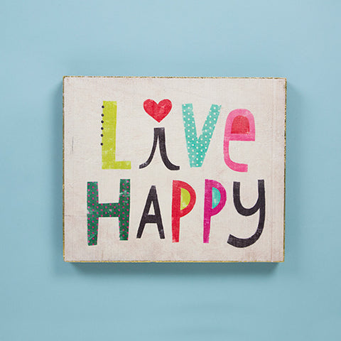 """Live Happy"" Bungalow Wall Art - Blessed and Beautiful Boutique"