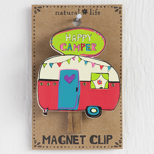 "Magnet Clip ""Happy Camper"" - Blessed and Beautiful Boutique"