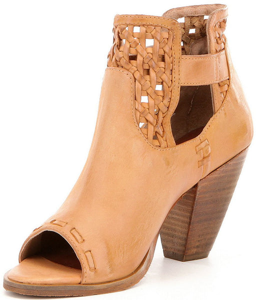 Naughty Monkey Leather Peep Toe - Blessed and Beautiful Boutique