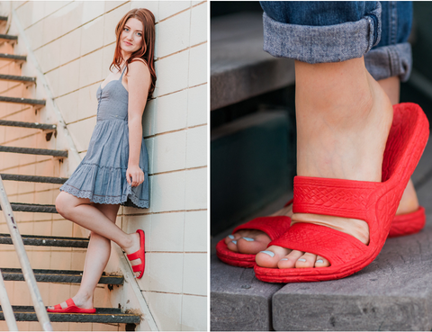 Red Jandals - Blessed and Beautiful Boutique