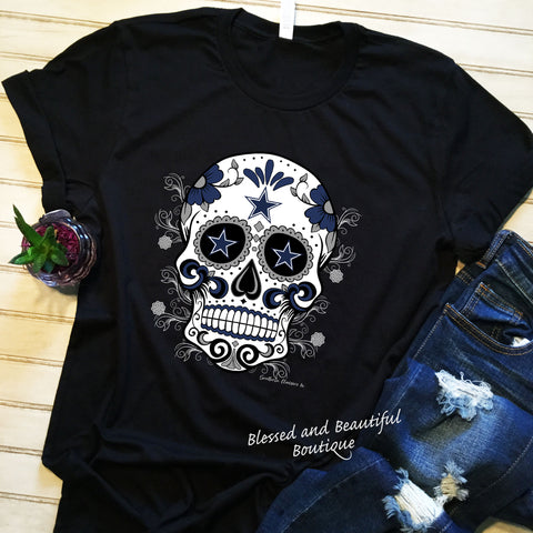 Sugar Skull Dallas Cowboys - Blessed and Beautiful Boutique